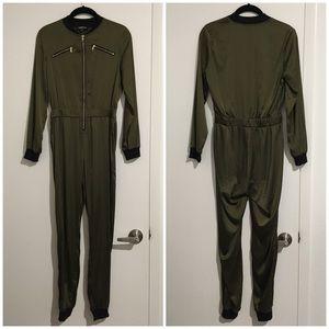 56a96a74d9d1 Fashion Nova Pants - NWOT Olive Long Sleeve Jumpsuit